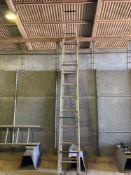 Titan aluminum roof ladder