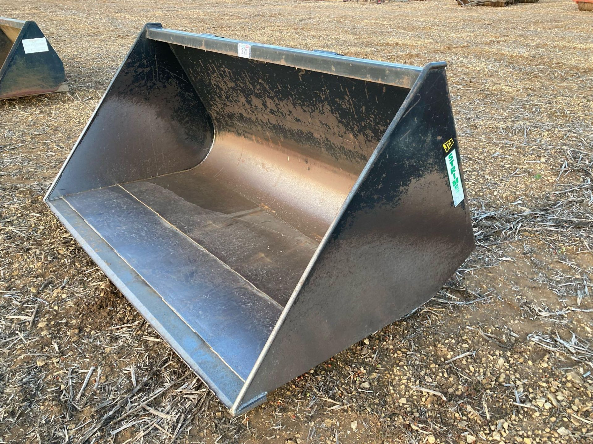 Strimech grain bucket with JCB Q fit brackets approx 2m - Image 2 of 3