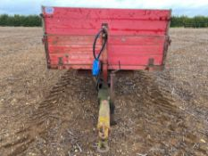 3t wooden tipping trailer