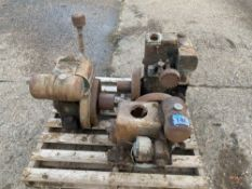 3 stationary engines: Lister water cooled, Ruston Hornsbywater cooled, Petter air cooled