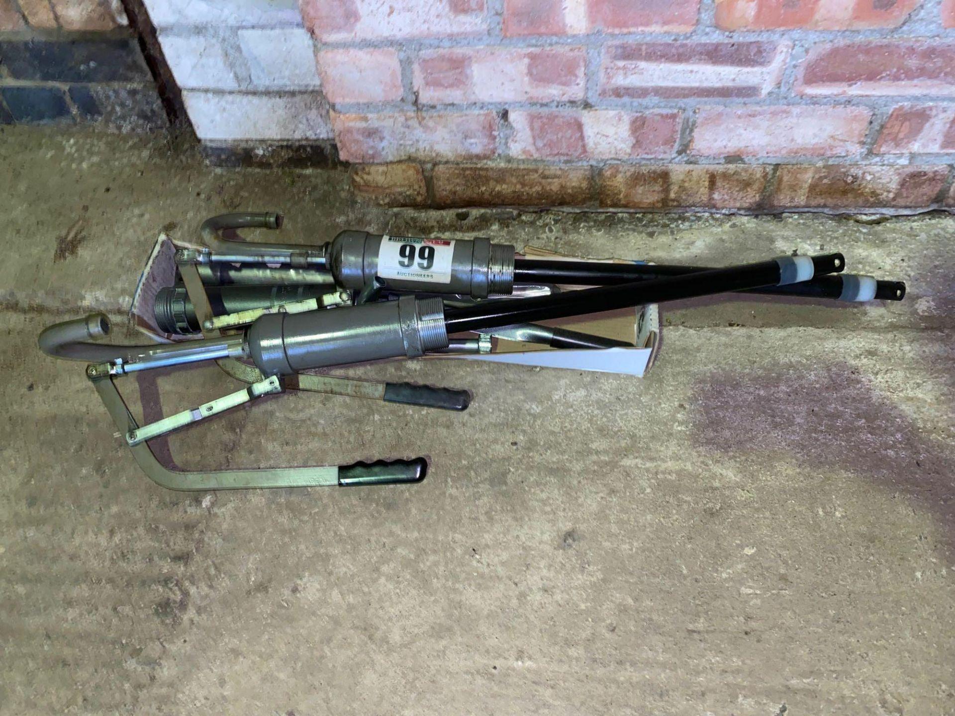 3 x Oil drum pumps - Image 2 of 2