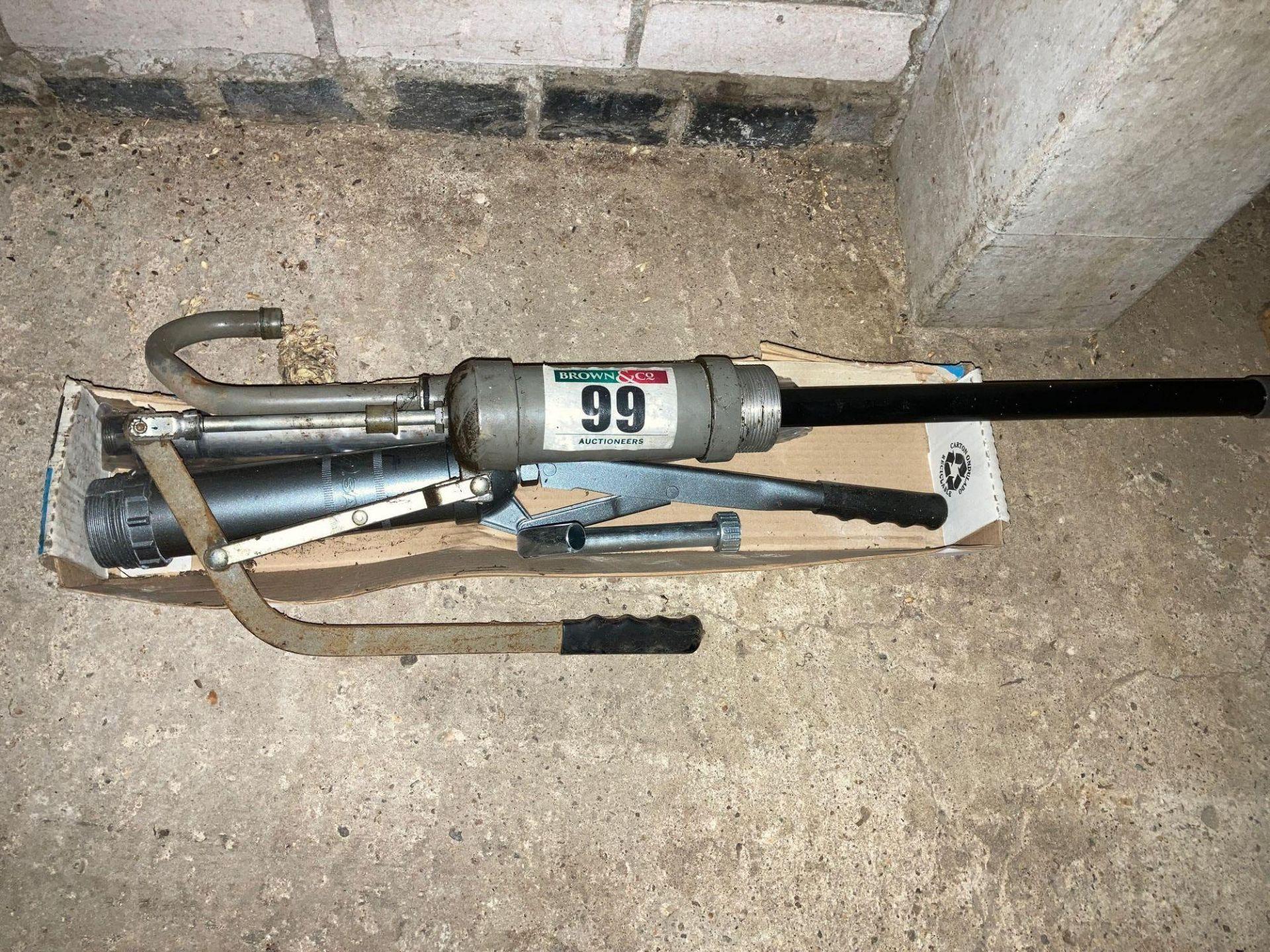 3 x Oil drum pumps