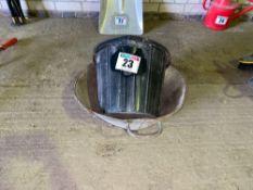 Buckets, 2 metal, 1 plastic