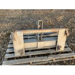 Bale spike for front end loader with Euro brackets