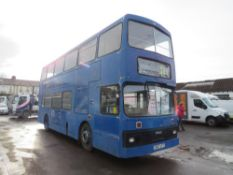 C reg LYELAND OLYMPIAN DOUBLE DECKER BUS, 1ST REG 08/85, 356681M, NO V5, NO KEYS [NO VAT]