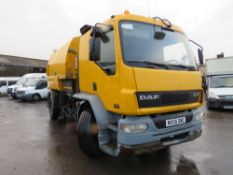 55 reg DAF FA LF55.220 ROAD SWEEPER, 1ST REG 01/06, 405180KM NOT WARRANTED, V5 HERE, 1 OWNER FROM