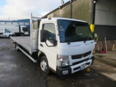 65 reg MITSUBISHI FUSO CANTER 7C15 43 FLAT BED, 1ST REG 09/15, 123010M, V5 HERE, 1 OWNER FROM NEW [