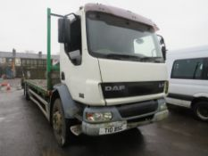 2004 DAF LF55.220 FLAT LORRY, 1ST REG 12/04, 479164KM NOT WARRANTED, PART V5 - NO GREEN SLIP, 2
