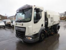 64 reg DAF LF180 FA EURO 6 SWEEPER (DIRECT COUNCIL) 1ST REG 10/14, TEST 09/21, 88875KM, V5 HERE