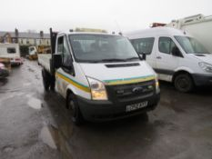 12 reg FORD TRANSIT 100 T350 RWD TIPPER (DIRECT COUNCIL) 1ST REG 08/12, 95543M, V5 MAY FOLLOW [+