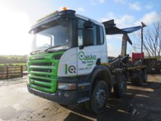 07 reg SCANIA P380 8 WHEEL HOOK LOADER C/W EASY SHEET (LOCATION BURNLEY) 1ST REG 06/07, TEST 09/