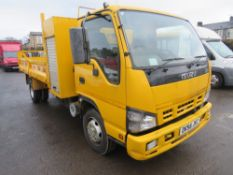 56 reg ISUZU NQR75-M 7.5t FLAT BED, 1ST REG 02/07, V5 HERE, 1 OWNER FROM NEW [+ VAT]