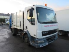 07 reg DAF FA LF45.150 REFUSE WAGON (GEAR BOX FAULTY - NO REVERSE) (DIRECT COUNCIL) 1ST REG 06/07,