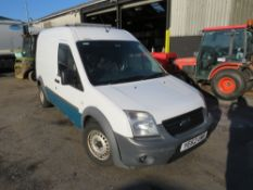 62 reg FORD TRANSIT CONNECT 90 T230 (DIRECT UNITED UTILITIES WATER) (NON RUNNER) 1ST REG 11/12, TEST