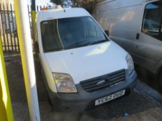 62 reg FORD TRANSIT CONNECT 90 T230 (DIRECT UNITED UTILITIES WATER) (NON RUNNER) 1ST REG 10/12, TEST