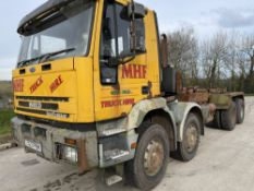 T reg IVECO 340 E34 8 WHEEL HOOK LOADER (DIRECT COUNCIL) (LOCATION ANGLESEY) 1ST REG 06/99, V5 MAY