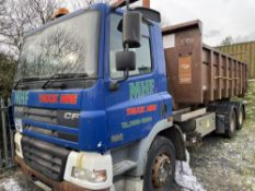 03 reg DAF CF 85.380 6 WHEEL HOOKLIFT WAGON (DIRECT COUNCIL) (LOCATION ANGLESEY) 1ST REG 08/03, SKIP