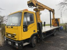 W reg FORD IVECO CHERRY PICKER (LOCATION BLACKBURN) DOCS & KEYS UNKNOWN (RING FOR COLLECTION