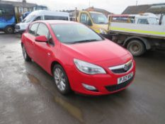 12 reg VAUXHALL ASTRA ACTIVE, 1ST REG 08/12, TEST 10/21, 92472M NOT WARRANTED, V5 HERE, 9 FORMER