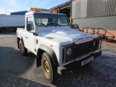13 reg LAND ROVER DEFENDER 90 TD PICKUP (RUNS, DRIVES BUT NOISY GEARBOX) (DIRECT COUNCIL) 1ST REG