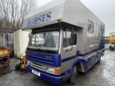 J reg LEYLAND DAF HORSEBOX (LOCATION BLACKBURN) NEEDS A CLUTCH, 1ST REG 01/92, 568177KM NOT