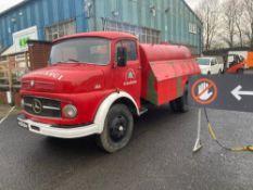 1966 MERCEDES 1113 FIRE FIGHTING TANKER LHD (LOCATION SKELMERSDALE) RUNS & DRIVES, 59000KM, NO V5 (