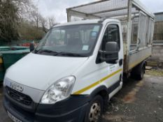 64 reg IVECO 50C15 CAGED TIPPER (DIRECT COUNCIL) (LOCATION LEEK) 1ST REG 09/14, 92959M, V5 TO