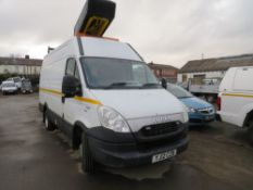 12 reg IVECO DAILY 50C17 CHERRY PICKER (DIRECT COUNCIL) 1ST REG 03/12, TEST 05/21, 99208M, V5 TO