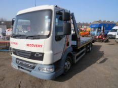 DAF 7.5t RECOVERY VEHICLE, 1ST REG 12/13, 179276M, V5 HERE, 3 FORMER KEEPERS [NO VAT]