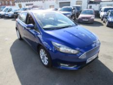 66 reg FORD FOCUS TITANIUM TDCI, 1ST REG 10/16, 98694M WARRANTED, V5 HERE, 1 OWNER FROM NEW [NO