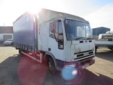 Y reg IVECO FORD CARGO 75E17 7.5t CURTAIN SIDER, 1ST REG 2001, TEST 10/20, 500087KM NOT WARRANTED,