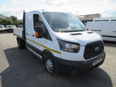 67 reg FORD TRANSIT 350 D/C 1 WAY TIPPER, 1ST REG 09/17, 64869M WARRANTED, V5 HERE, 1 OWNER FROM NEW