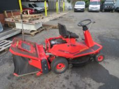 COUNTAX RIDE ON MOWER C/W BRUSH & COLLECTION BOX [NO VAT]