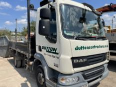 08 reg DAF FA LF45.160 7.5 TON TIPPER (CONTENTS NOT INCLUDED IN SALE) 1ST REG 05/08, TEST 09/21,
