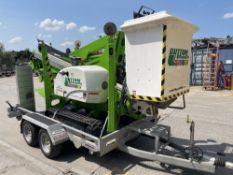 AS NEW 2019 NIFTY LIFT TRACKED BUCKET TRUCK C/W CUSTOM BUILT INDESPENSION LIGHT WEIGHT TRAILER