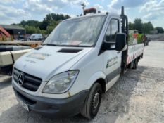 62 reg MERCEDES SPRINTER 313 CDI DROPSIDE (CONTENTS NOT INCLUDED IN SALE) 1ST REG 12/12, TEST 10/21,