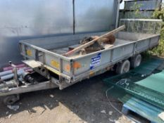 IFOR WILLIAMS 3.5 TON TWIN AXLE PLANT TRAILER (CONTENTS NOT INCLUDED IN SALE)