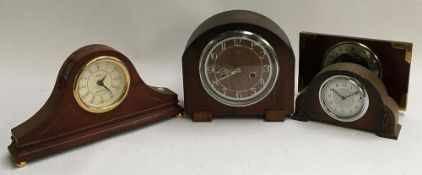 Two Smith's mantel clocks; together with two others including Acctim