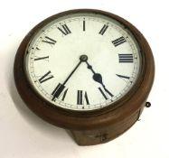 A mahogany cased school clock, 30cmD