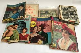 A collection of French cinema magazines; together with a small quantity of sheet music