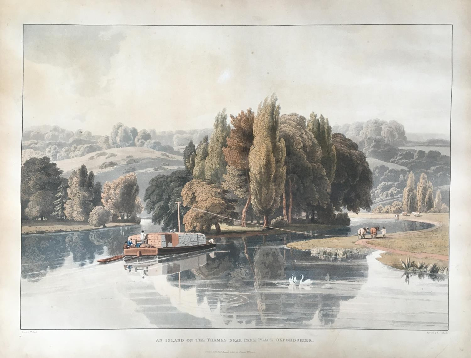 A collection of ten 19th century chromolithographs after William Havell, 'An Island On The Thames - Image 2 of 10