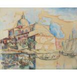 Henry De Waroquier (French 1881-1970), San Pietro, Venice, watercolour and gouache on paper,