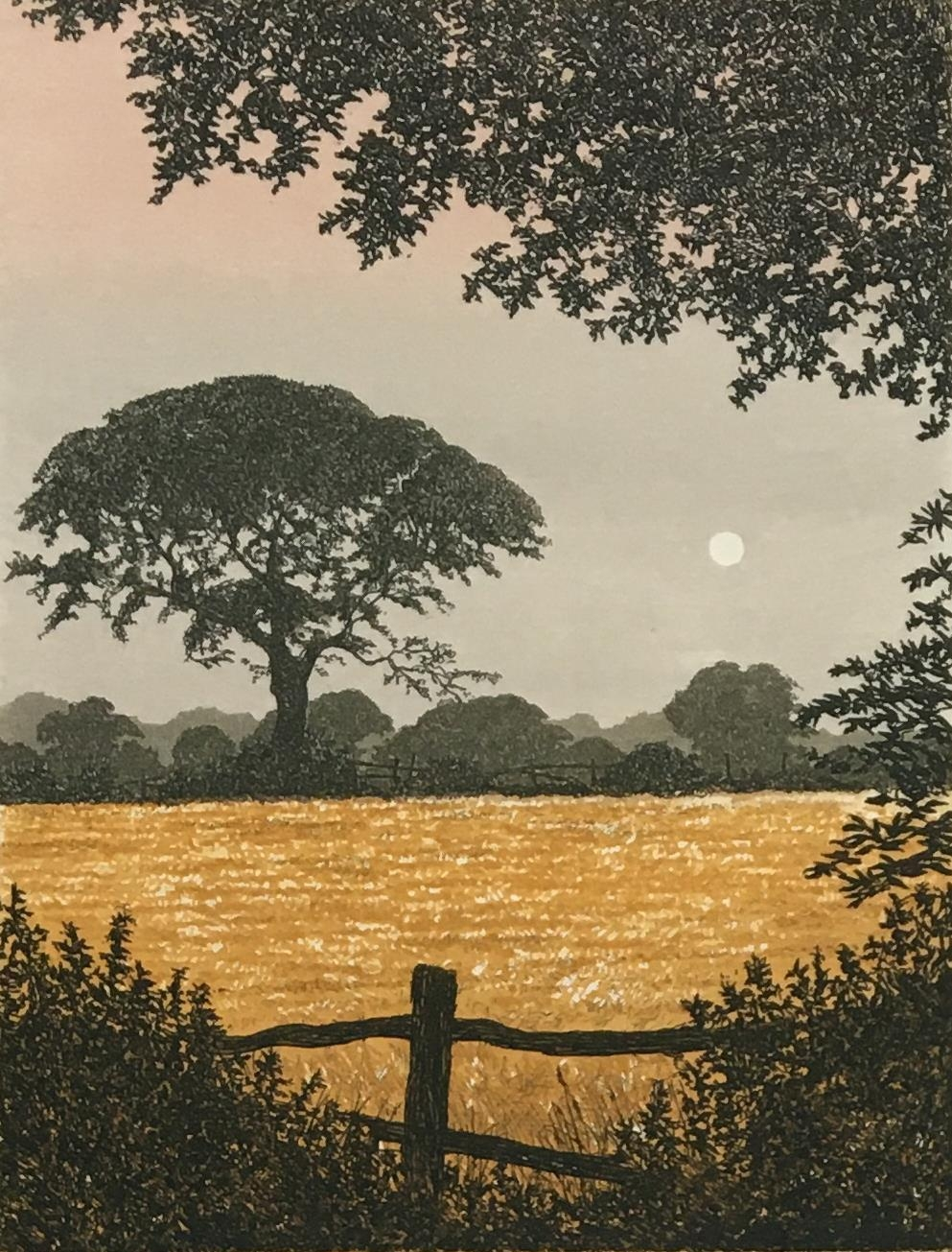 David G Beattie (b.1955) 'Valley Between' and 'Summer Solstice', coloured etchings signed and titled - Image 2 of 3