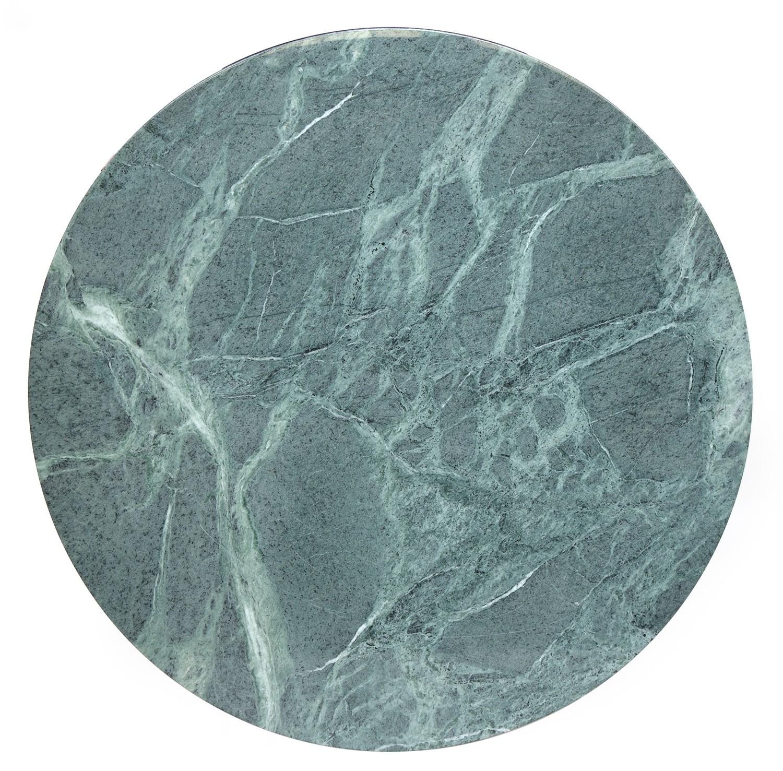 A circular Eero Saarinen for Knoll circular tulip dining table, the top of Verdi Alpi coated marble, - Image 3 of 3