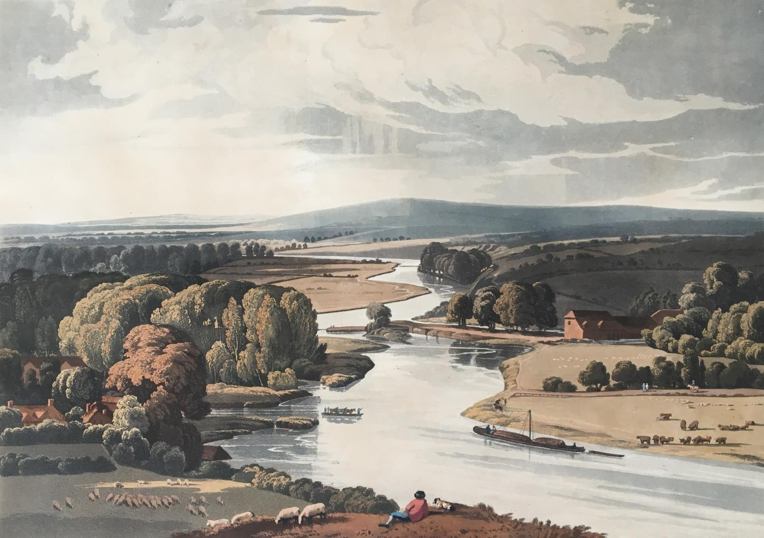 A collection of ten 19th century chromolithographs after William Havell, 'An Island On The Thames - Image 9 of 10