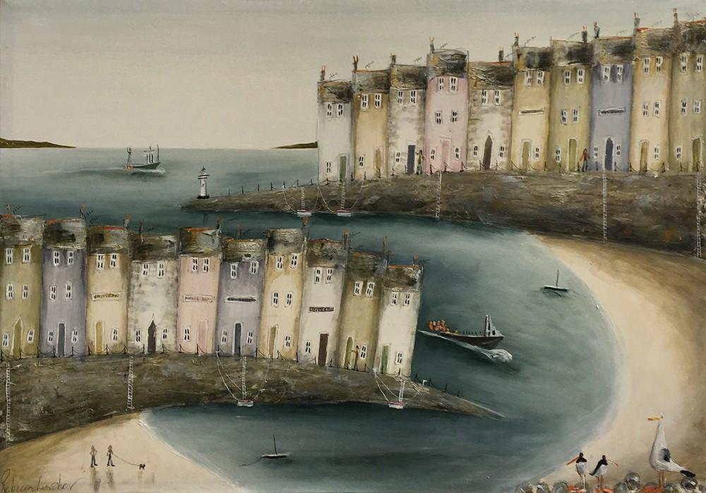 Rebecca Lardner (b.1971), 'Sea Jewels', oil on canvas, 70 x 100cm