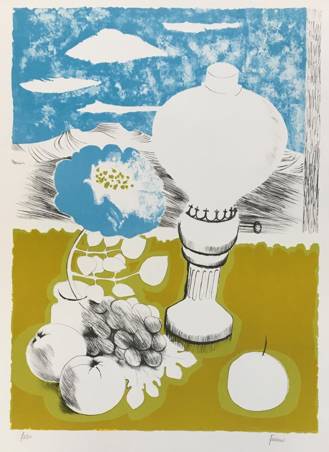 Mary Fedden LG RA, British 1915-2012- 'The Lamp'; lithograph printed in colours, signed and numbered - Image 2 of 2