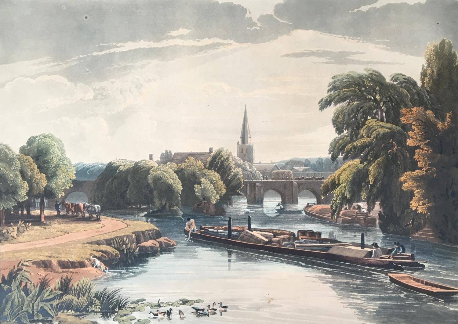 A collection of ten 19th century chromolithographs after William Havell, 'An Island On The Thames - Image 5 of 10