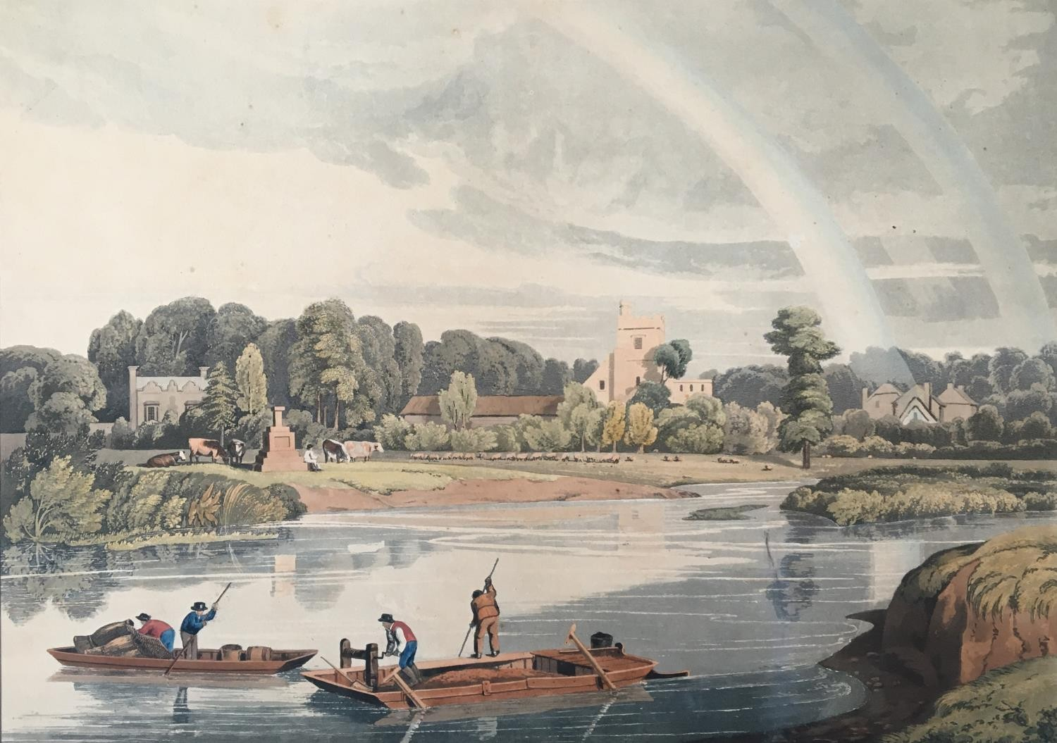 A collection of ten 19th century chromolithographs after William Havell, 'An Island On The Thames - Image 7 of 10