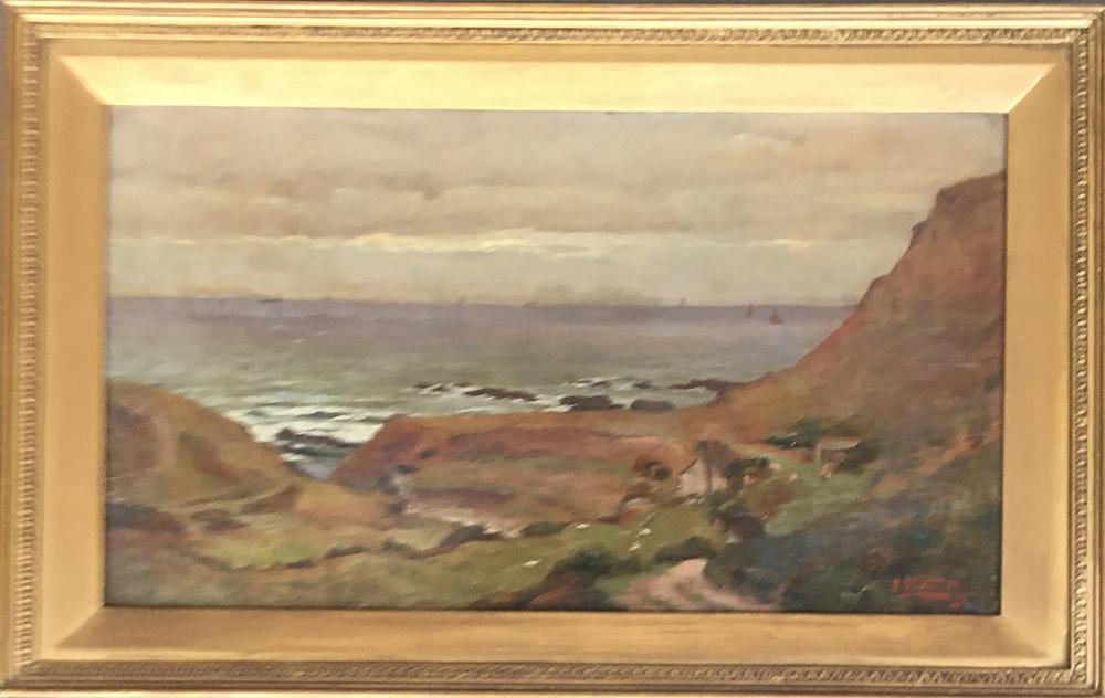 Frederick Brueton (1859-1916), a pair of coastal landscapes, probably Devon, oil on board, each - Image 3 of 5